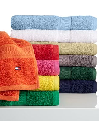 CLOSEOUT! Tommy Hilfiger All American Bath Towel Collection, 100% Cotton, Only at Macy's