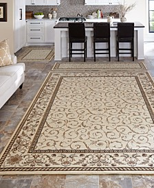 CLOSEOUT! Roma Damask Ivory 3-Pc Rug Set
