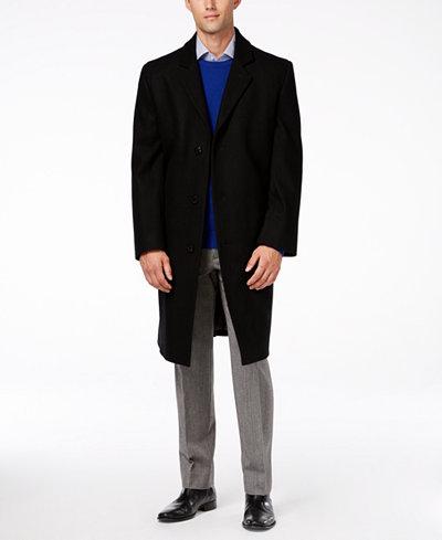 London Fog Signature Wool-Blend Overcoat - Coats & Jackets - Men ...