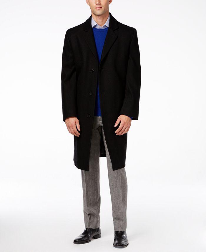 London Fog - Signature Wool-Blend Overcoat