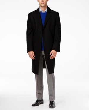Men's Vintage Style Coats and Jackets London Fog Signature Wool-Blend Overcoat $89.99 AT vintagedancer.com