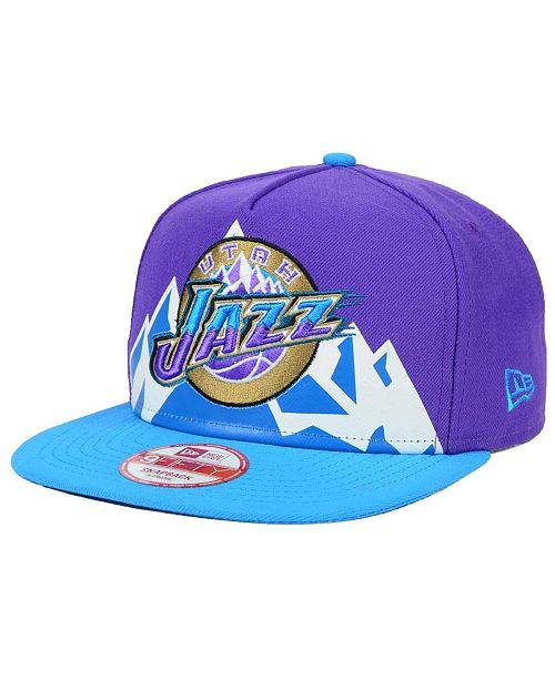 8d884ea623b New Era Utah Jazz Logo Mural Snap 9FIFTY Cap   Reviews - Sports ...