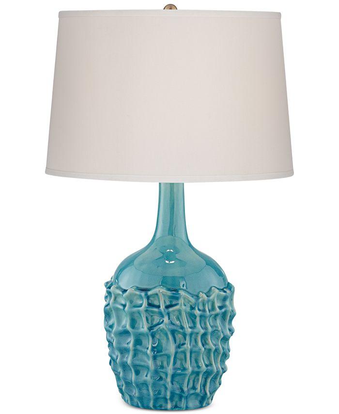Kathy Ireland - Ceramic Basket Weave Table Lamp