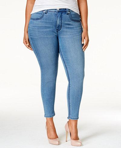 Melissa McCarthy Seven7 Trendy Plus Size Comet Blue Wash Pencil Jeans