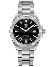 TAG Heuer Men's Swiss Aquaracer Calibre 5 Stainless Steel Bracelet Watch 41mm