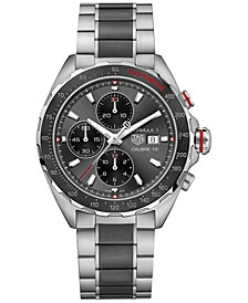 Men's Swiss Chronograph Formula 1 Calibre 16 Two-Tone Stainless Steel and Ceramic Bracelet Watch 44mm