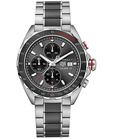 TAG Heuer Men's Swiss Chronograph Formula 1 Calibre 16 Two-Tone Stainless Steel and Ceramic Bracelet Watch 44mm