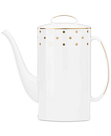 kate spade new york Larabee Road Gold Collection 2-Pc. Bone China Lidded Coffeepot