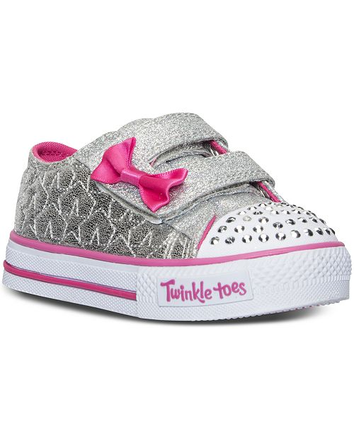 a78e210b1b68 ... Skechers Toddler Girls' Twinkle Toes: Shuffles - Starlight Light-Up  Sneakers from Finish ...