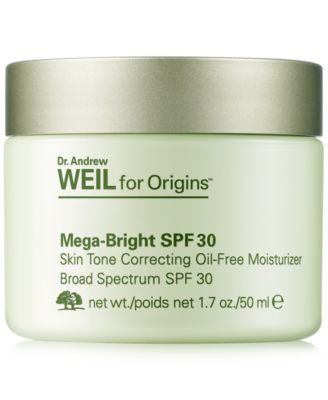 Dr. Andrew Weil for Mega-Bright SPF 30 Skin Tone Correcting Oil-Free Moisturizer, 1.7 oz.