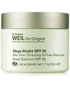 Dr. Andrew Weil for Mega-Bright SPF 30 Skin Tone Correcting Oil-Free Moisturizer, 1.7 oz.