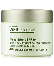 Dr. Andrew Weil for Origins Mega-Bright SPF 30 Skin Tone Correcting Oil-Free Moisturizer, 1.7 oz.