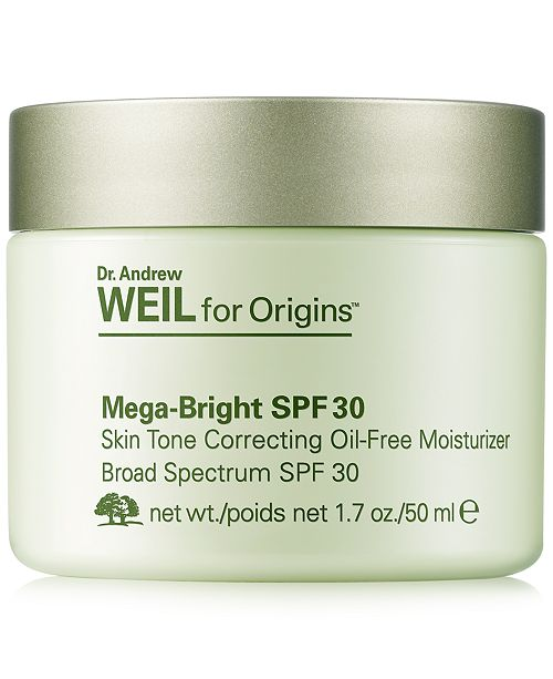 Origins Dr. Andrew Weil for Mega-Bright SPF 30 Skin Tone Correcting Oil-Free Moisturizer, 1.7 oz.