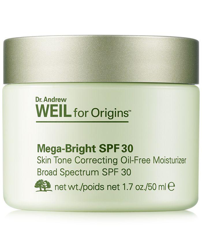 Origins - Dr. Andrew Weil for  Mega-Bright SPF 30 Skin Tone Correcting Oil-Free Moisturizer, 1.7-oz.