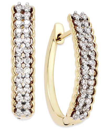 Diamond Hoop Earrings (1/2 ct. t.w.) in 10k Gold