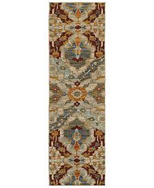 "Oriental Weavers Sedona 6357A 2'3"" x 7'6"" Runner Rug"