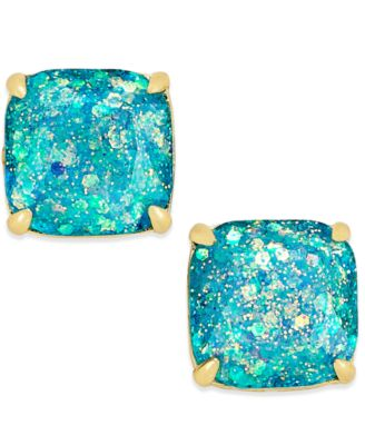 Image of kate spade new york 14k Gold-Plated Small Square Glitter Studs