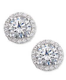 Swarovski Zirconia Halo Stud Earrings in Sterling Silver, Created for Macy's