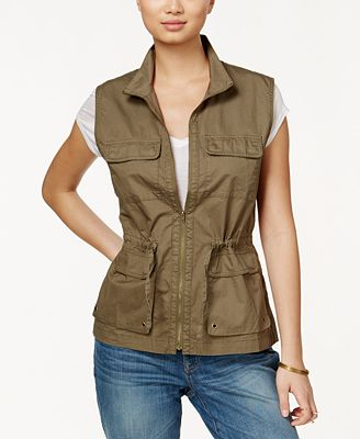 Maison Jules Zip-Front Utility Vest, Created for Macy's
