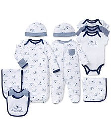 Baby Boys Puppy Toile Gift Bundle