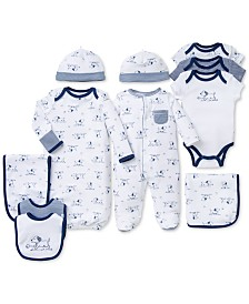 Little Me Baby Boys Puppy Toile Gift Bundle