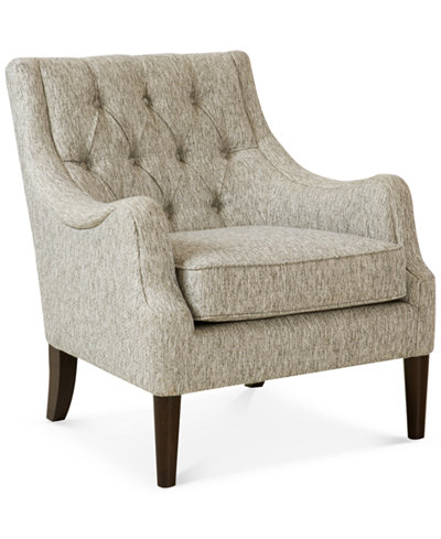 Glenis Tufted Accent Chair Quick Ship Furniture Macy S