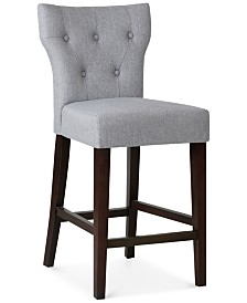 Dan Tufted Counter Stool, Quick Ship
