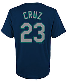Majestic Kids' Nelson Cruz Seattle Mariners Player T-Shirt, Big Boys (8-20)