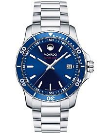 Movado Men's Swiss Series 800 Stainless Steel Bracelet Watch 40mm 2600137