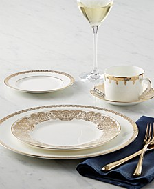 Dinnerware, Lismore Lace Gold Collection