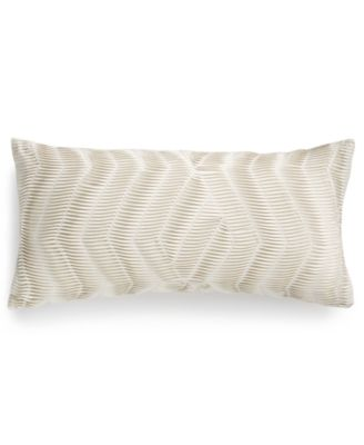 "LAST ACT!  Modern Airbrush Geo Pleated Stripe 12"" x 24"" Decorative Pillow, Created for Macy's"