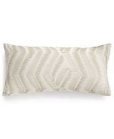 "LAST ACT! Hotel Collection  Modern Airbrush Geo Pleated Stripe 12"" x 24"" Decorative Pillow, Created for Macy's"