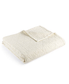 LAST ACT! Hotel Collection Modern Airbrush Geo Quilted King Coverlet, Created for Macy's