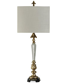 StyleCraft Glass and Gold-Tone Traditional Table Lamp