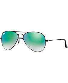 Ray-Ban ORIGINAL AVIATOR GRADIENT MIRRORED Sunglasses, RB3025 62