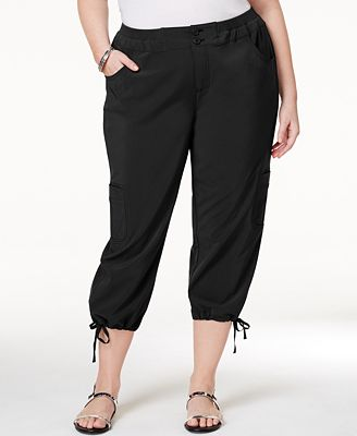 Style & Co Plus Size Capri Cargo Pants, Only at Macy's - Pants ...