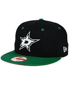 New Era Dallas Stars Black White Team Color 9FIFTY Snapback Cap
