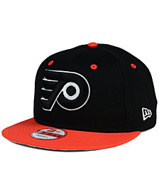New Era Philadelphia Flyers Black White Team Color 9FIFTY Snapback Cap
