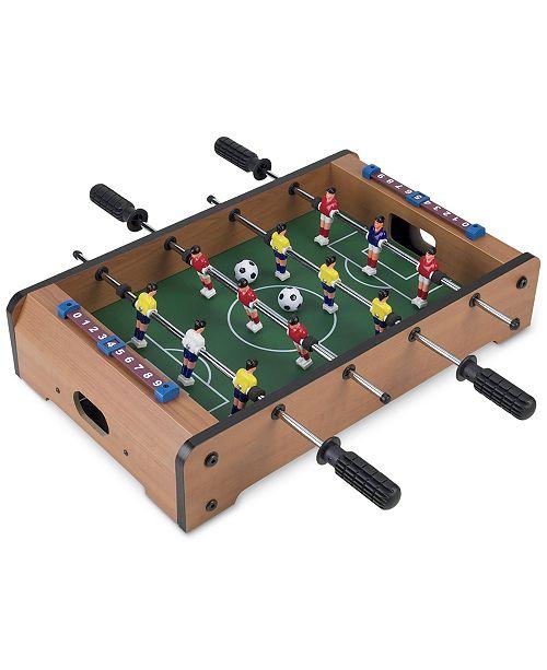 "Trademark Global Mini Table Top Foosball Set, 3.5"" x 12.25"" x 20.25"""