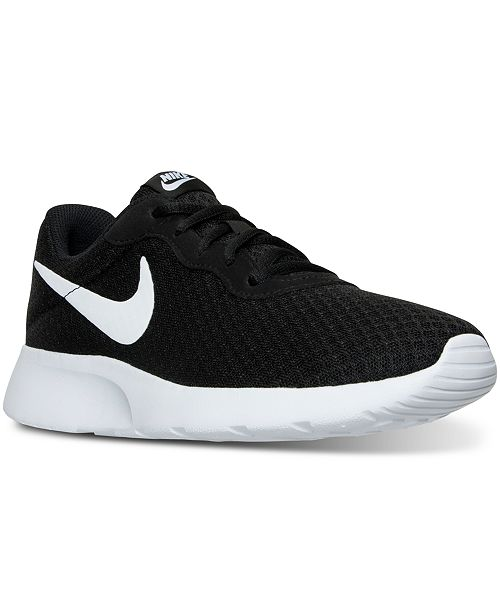 premium selection d8e92 20f1b ... Nike Women s Tanjun Casual Sneakers from Finish ...