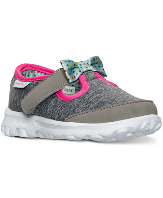 skechers toddler gowalk bitty bow athletic velcro