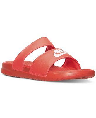 Nike Women's Benassi Duo Ultra Slide Sandals from Finish Line