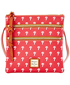 Dooney & Bourke Philadelphia Phillies Triple Zip Crossbody Bag