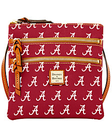 Dooney & Bourke Alabama Crimson Tide Triple Zip Crossbody Bag