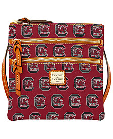 Dooney & Bourke South Carolina Gamecocks Triple Zip Crossbody Bag