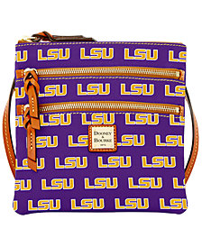 Dooney & Bourke LSU Tigers Triple Zip Crossbody Bag