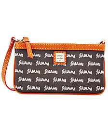 Dooney & Bourke Miami Marlins Large Slim Wristlet