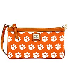 Dooney & Bourke Clemson Tigers Large Slim Wristlet