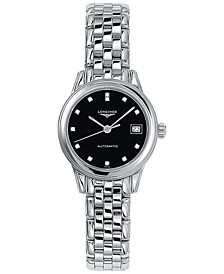 Women's Swiss Automatic Flagship Diamond Accent Stainless Steel Bracelet Watch 26mm L42744576