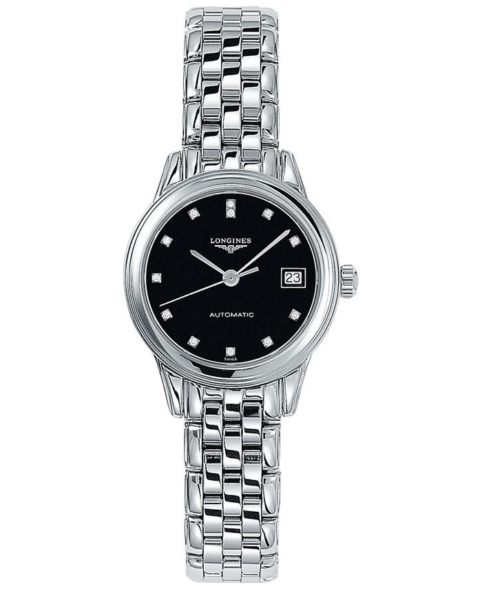 Longines - Women's Swiss Automatic Flagship Diamond Accent Stainless Steel Bracelet Watch 26mm L42744576